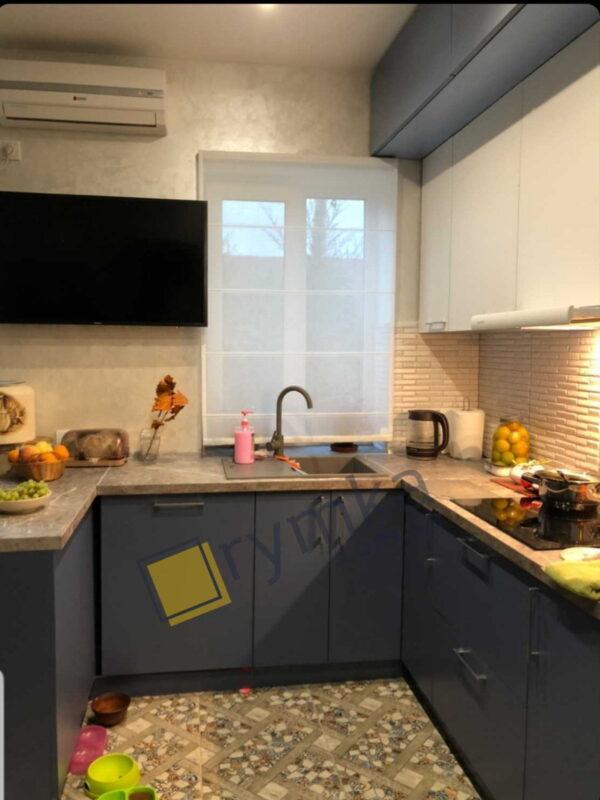 Римська штора на Кухню, Тюль Льон, білиій
