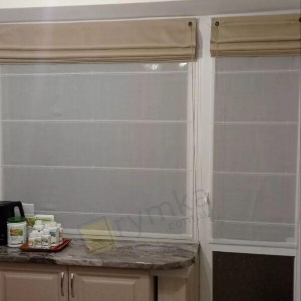 Римська штора на кухню Тюль Льон, білий