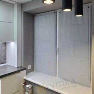Римська штора на вікно Блекаут перфект, світло сірий